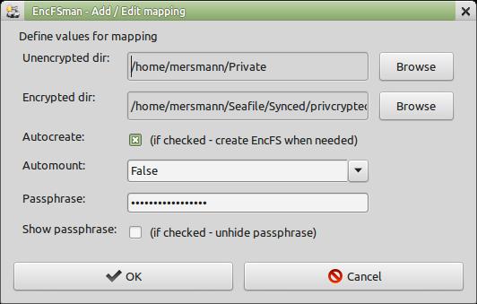 Add / Edit mapping dialog