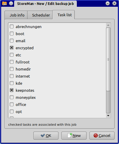 Job tasks