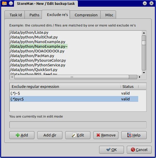 Task Regular expressions